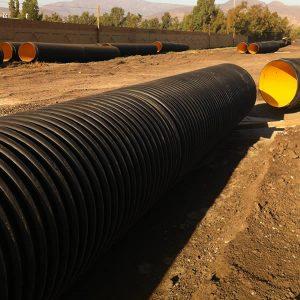 tubería polietileno corrugada estructurada en terreno